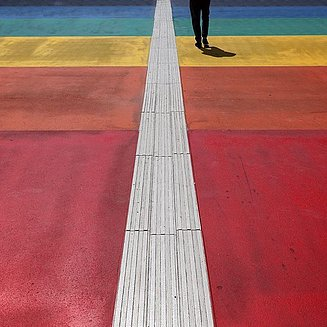 colorful sidewalk