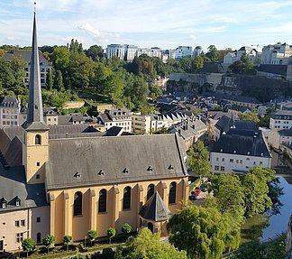 Luxembourg old town with Abbey