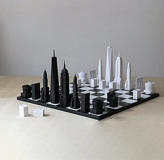 Chess pieces as architecture