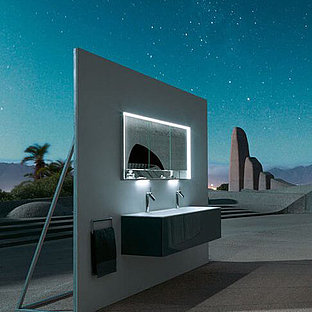 KEUCO bathroom design in futuristic atmosphere