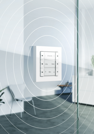 Graphic of a wireless Smart Home element