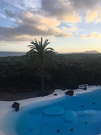 Part of the landscape of Lanzarote