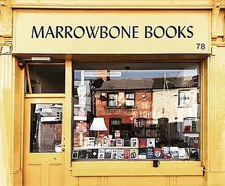 Marrowbone bookshop shines bridge with a golden facade