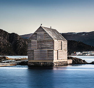 holiday home in Norway on a small island