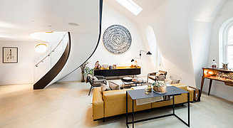 Artisan building complex interior by Rolfe Judd