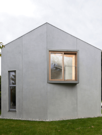 House with concrete facade