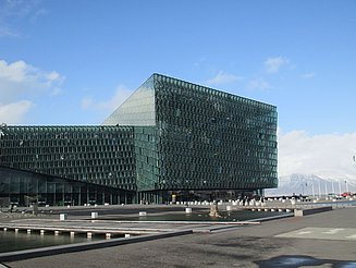 The Opera house Harpa from outside