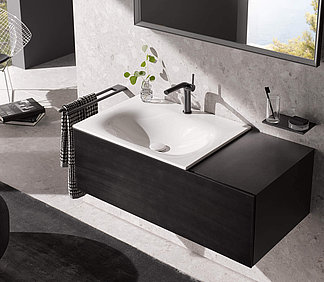 KEUCO black concept bathroom furniture: Luxurious and incorruptible