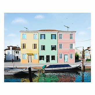 pastel colored house