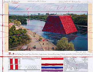 The Mastaba scribble with blue and red colour