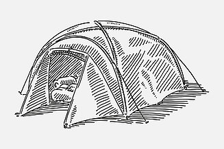 Sketch of a tent